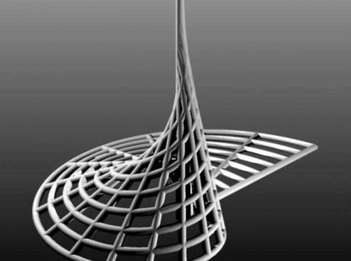 Archimedean Spire 3d printed Rhino render.