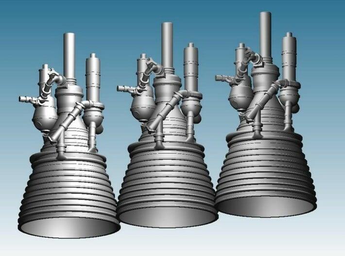 J-2 Engine (1:72 Set of 3) 3d printed CAD Render