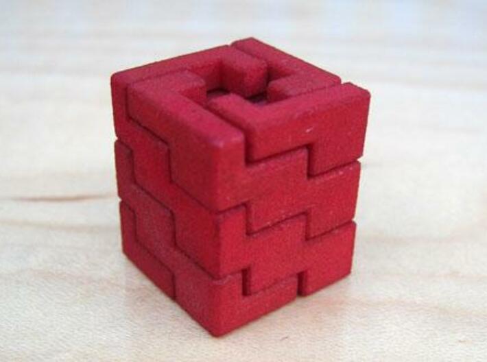 Quad Helix 3d printed The assembled puzzle.