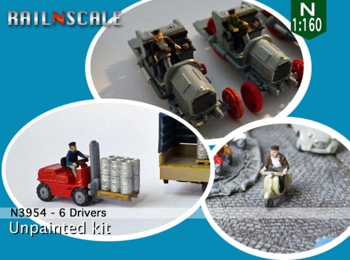 6 Drivers (N 1:160) 3d printed