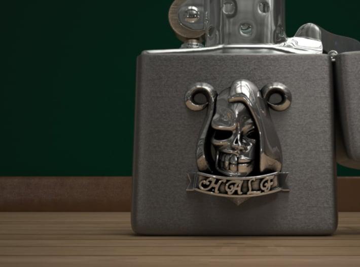 Half Skull 3d printed