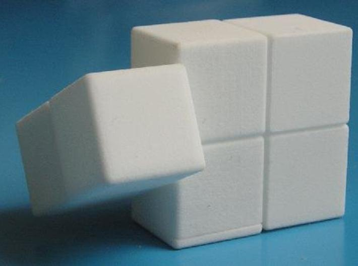 Easy Cuboid: 1x2x3 3d printed Partial twist of 1x2 face