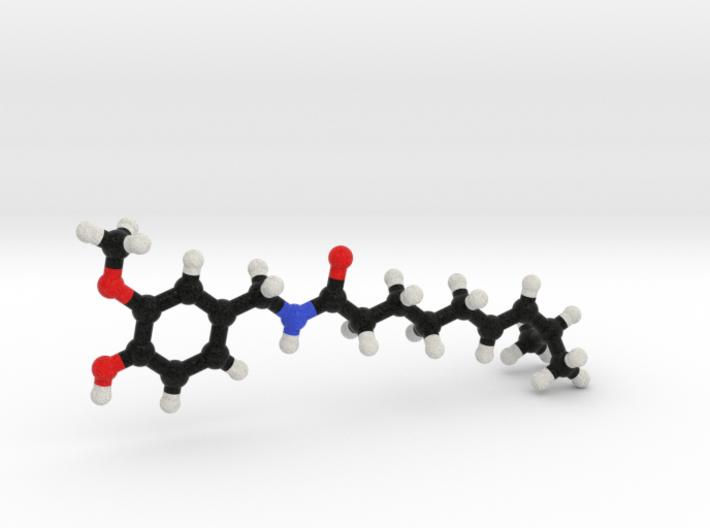 Capsaicin Molecule Model. 3 Sizes. 3d printed