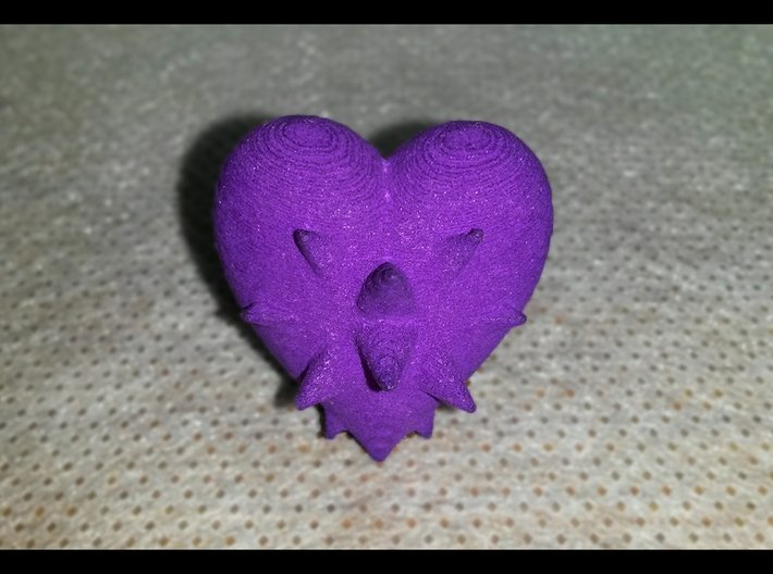 Heartspikes 3d printed