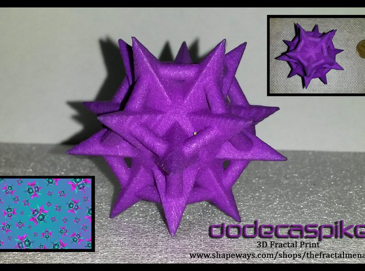 Dodecaspikes 3d printed