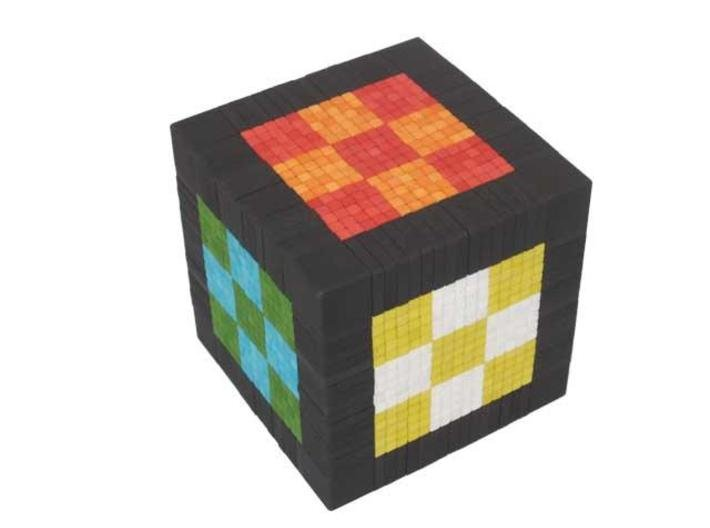 Over The Top 17x17x17 - Part 1 of 7 3d printed Checker board pattern