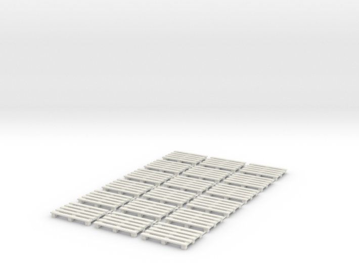 1:50 Pack 18 Paletten 3d printed