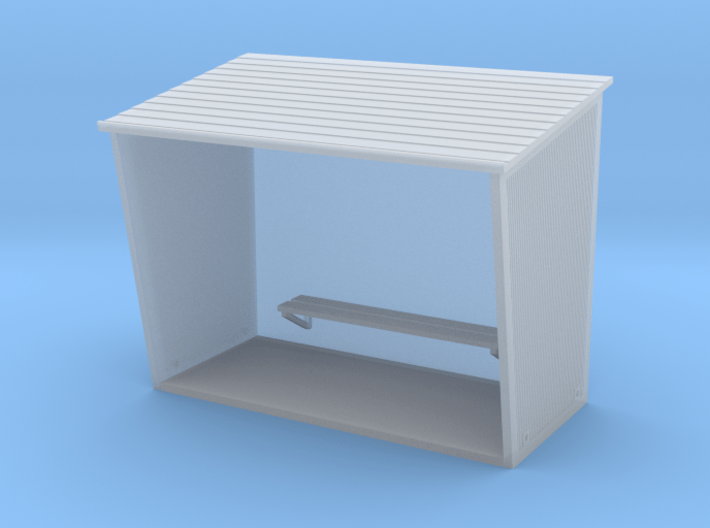 TJ-H01130 - Abribus beton, grand 3d printed