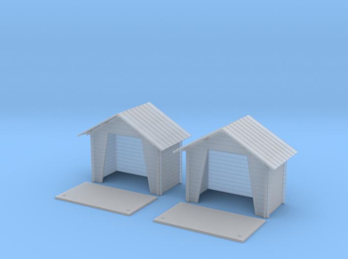 TJ-H01132x2 - Abribus bois 3d printed