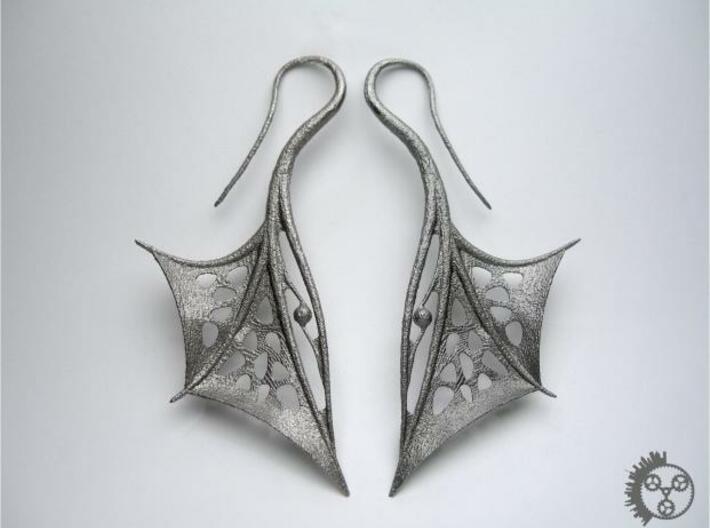Wing Earrings 3d printed Wing Earrings - Pair