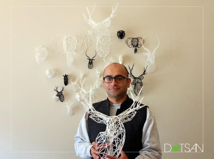 Original XL 3D Printed Stag Deer Polygon Trophy He 3d printed