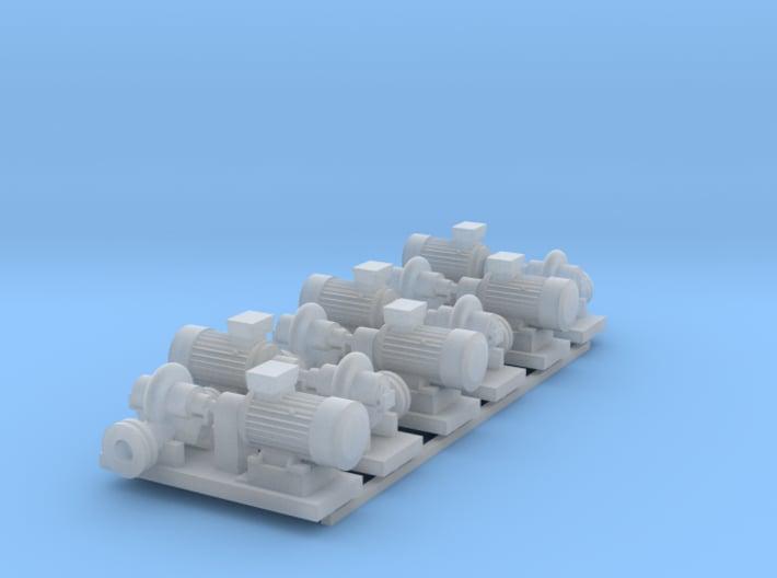 Centrifugal Pump #1 (Size 3 6pc) 3d printed