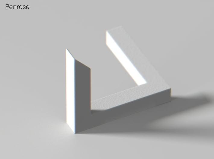 Escher Penrose Triangle 3d printed