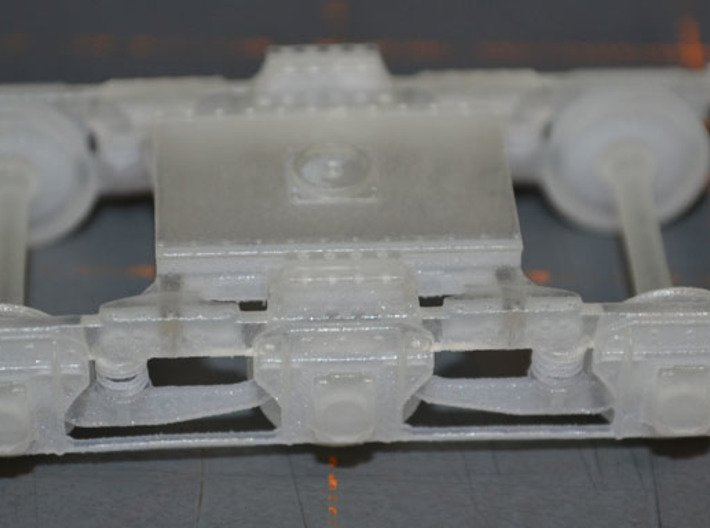 US 16in Model E Railway cannon - Truck Assy 1/72 3d printed