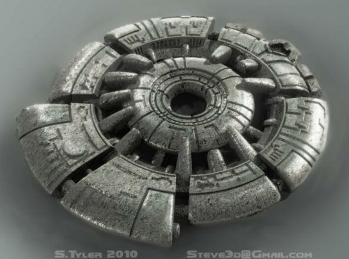 Ancient Tech Medallion 3d printed Description