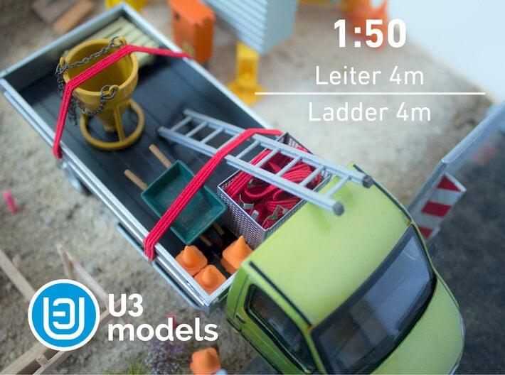 1:50 4M Leiter / Ladder / Escalera 3d printed Stainless Steel