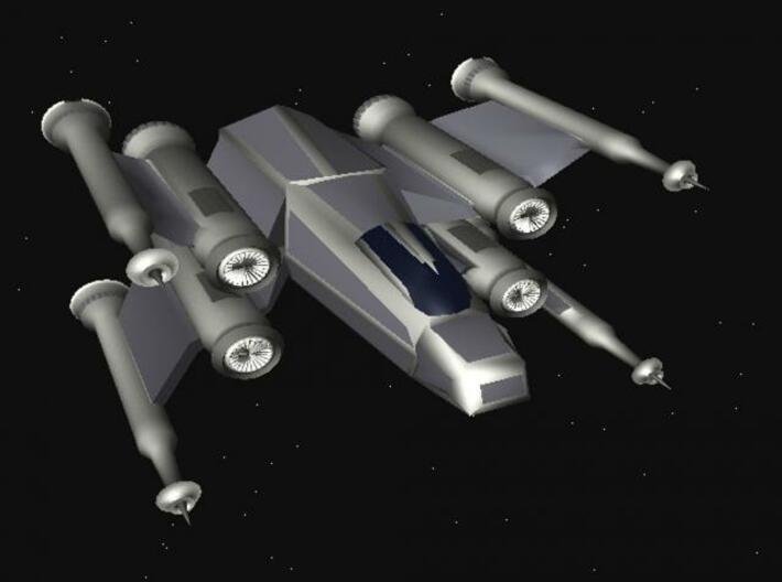 Space Fighter 3d printed Description