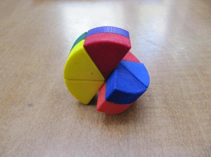 """""""Cheese"""" Puzzle 3d printed Turning"""