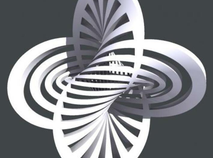 Hopf Fibration 1 3d printed Rhino render.