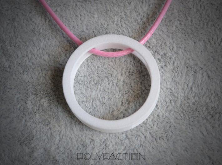 Loop ::: Circle Pendant ::: v.01 3d printed