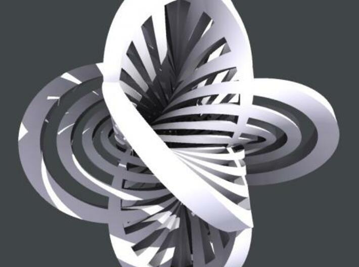 Hopf Fibration 2 3d printed Rhino render.