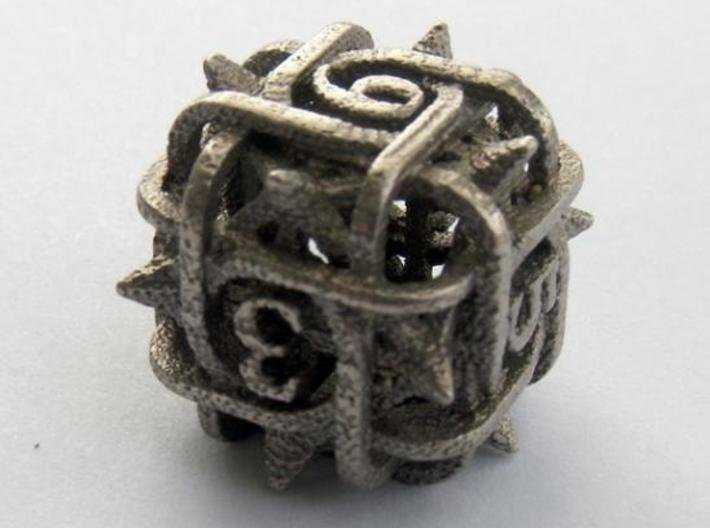 Thorn d6 3d printed In stainless steel