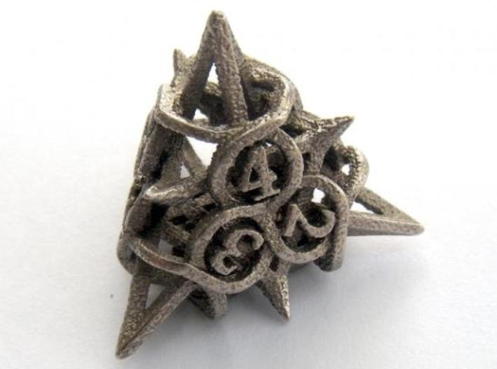 Thorn d4 3d printed In stainless steel