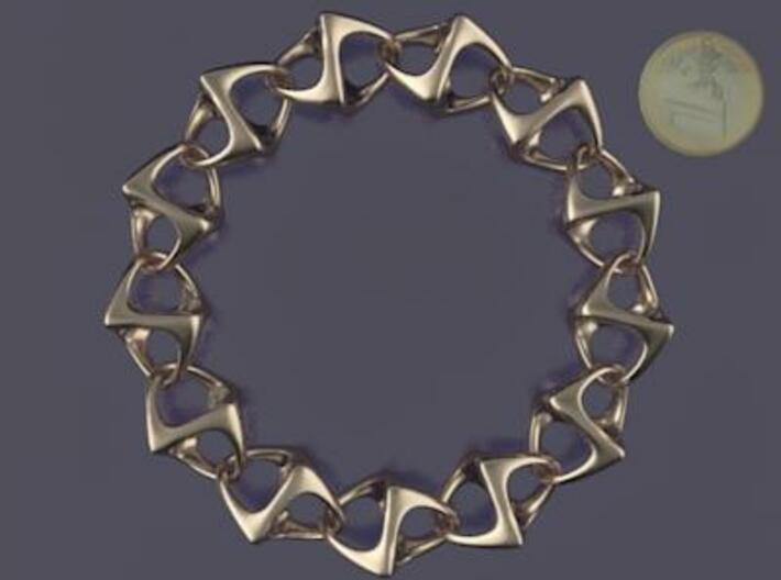Artistic bracelet 001 3d printed Bracelet 001 from top