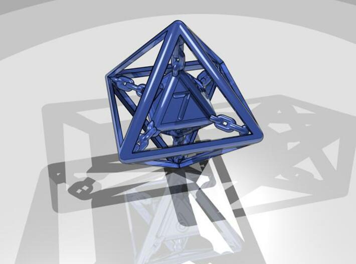 Chained die 8-sided 3d printed Render