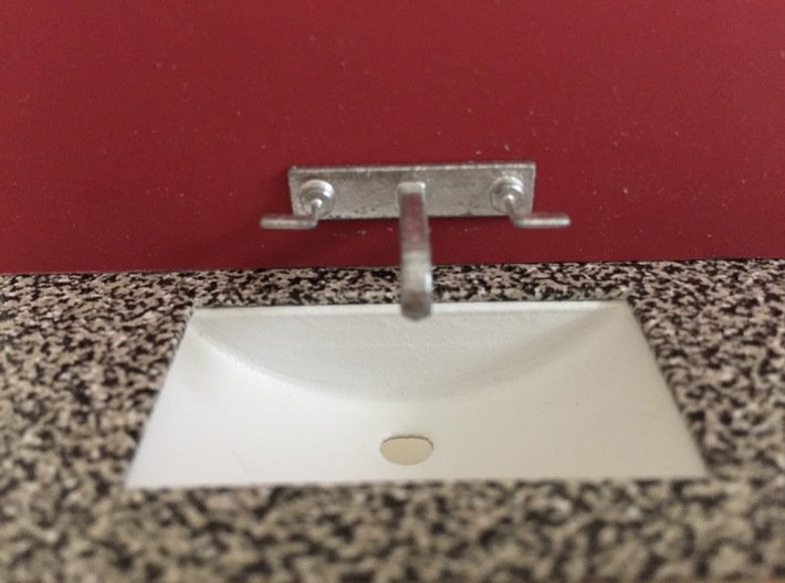 Bathroom sink, under-counter, 1:12 3d printed 1:12