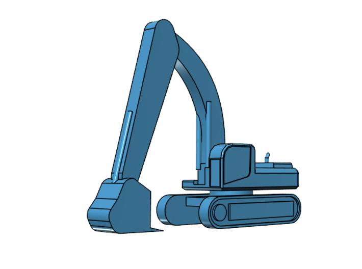 CAT 375 Excavator pose 4 3d printed