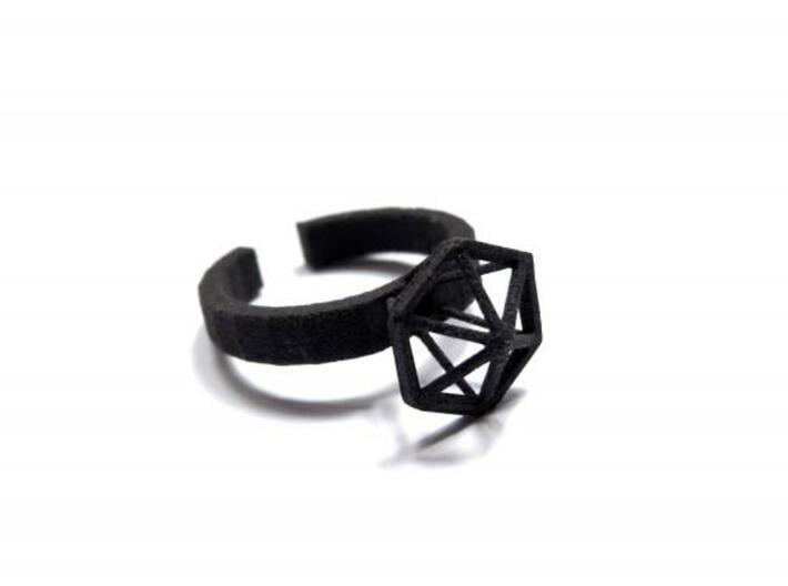Stereodiamond Ring 3d printed 1