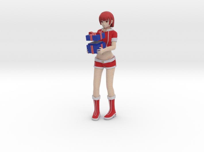 """""""Santa Girl"""" Figure (Full Color) 3d printed"""