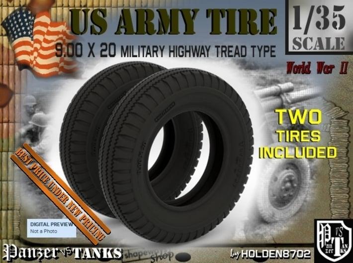 1-35 Tire HW 9 00x20 Set1 3d printed