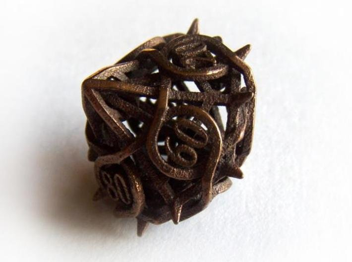 Thorn Decader d10 3d printed In antique bronze glossy