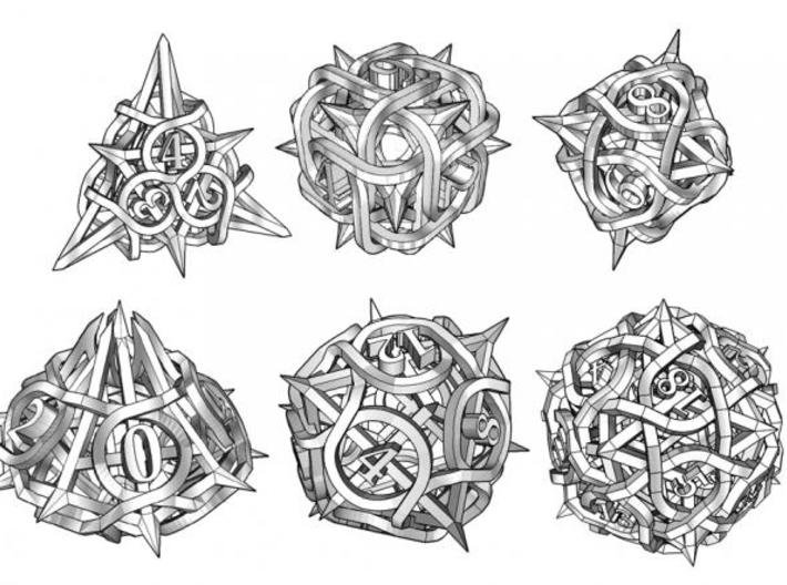 Thorn Dice Set 3d printed