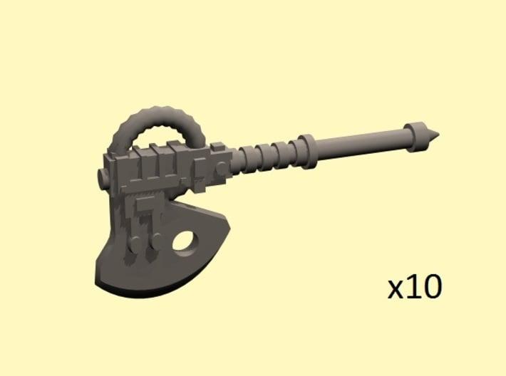 28mm Terebratus powered axes 3d printed