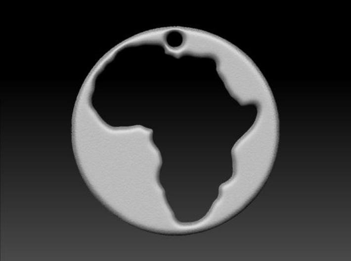 Pendant of Africa (5cms) 3d printed Rendered version.