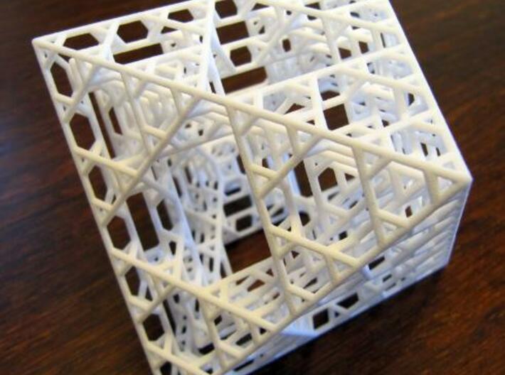 Octahedron fractal graph 3d printed IRL.