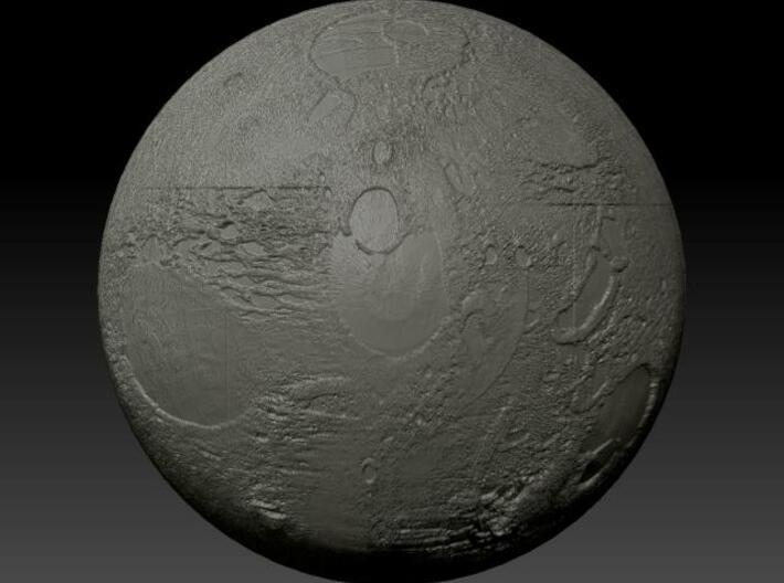 Planet (half sphere) 3d printed Description