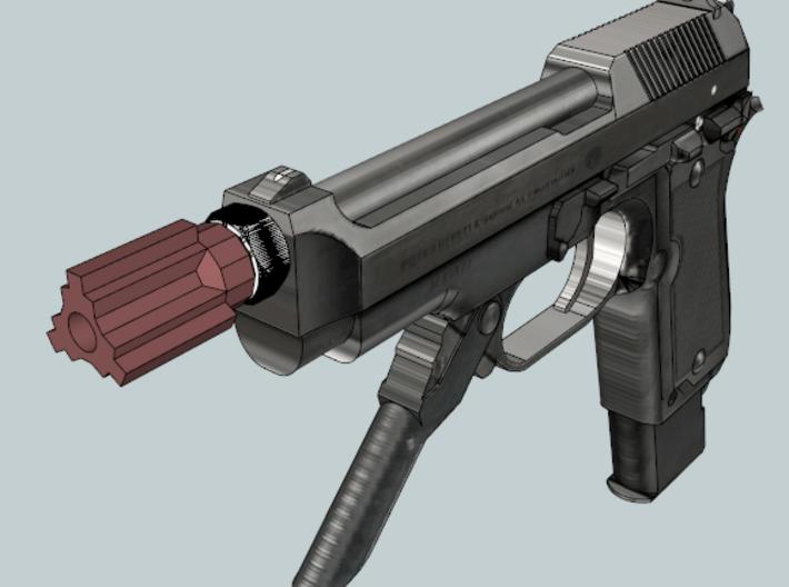 Insanity Airsoft Flash Suppressor (14mm-) 3d printed
