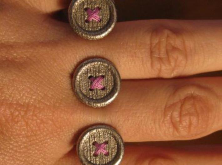 Button Up Ring 3d printed Superclose on my hand