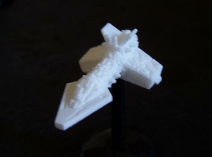 VA204 Burning Moon Light Cruiser 3d printed Model (on stand) in SWF