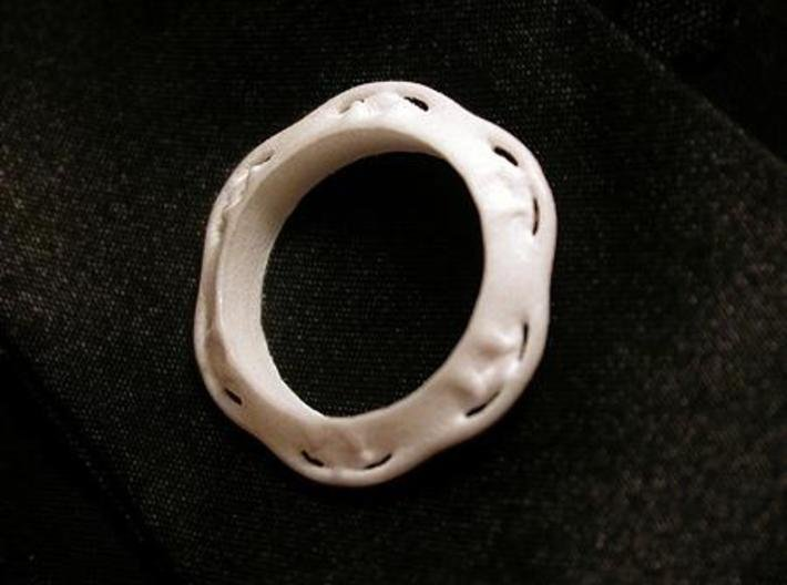 Flower Ring (Size: 6) 3d printed