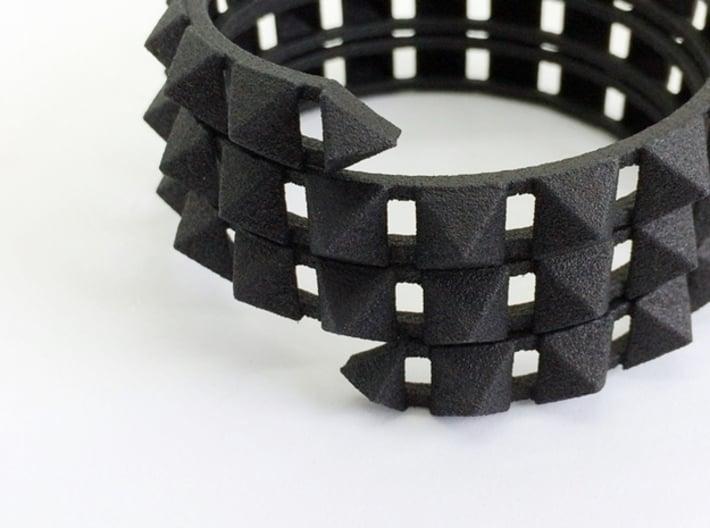 Urban Chic - Rivet Wrap Cuff Bracelet 3d printed Rivet Cuff, Urban Chic