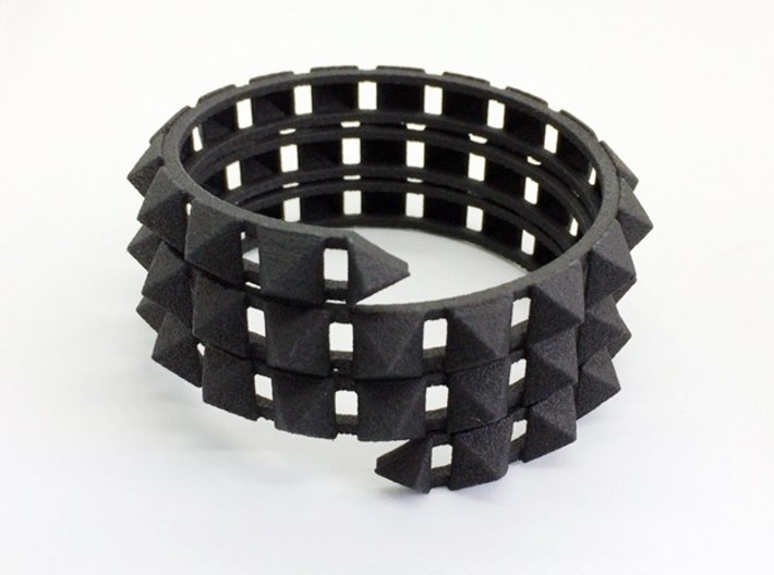 Urban Chic - Rivet Wrap Cuff Bracelet 3d printed Give it a twist for easy on and off.