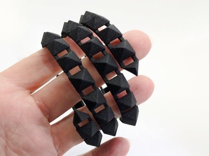 Urban Chic - Rivet Wrap Cuff Bracelet 3d printed Rocker Cuff