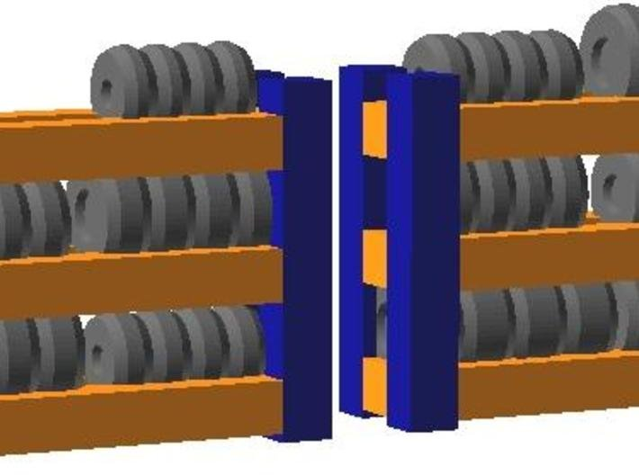 Tire Racks - Zscale 3d printed Color Render
