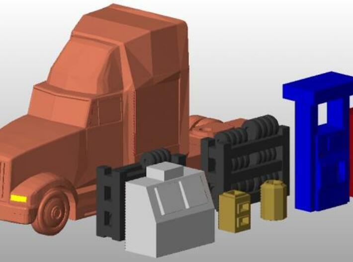 Tire Racks - Zscale 3d printed Group Render