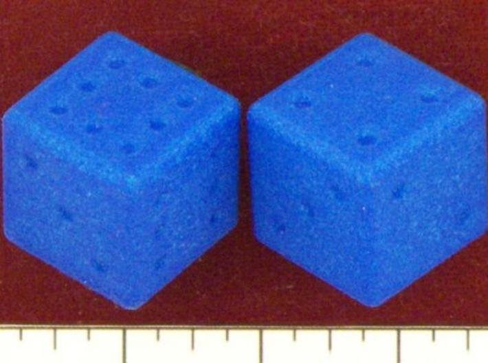 Sicherman Dice 3d printed In Summer Blue Strong & Flexible.  From www.dicecollector.com
